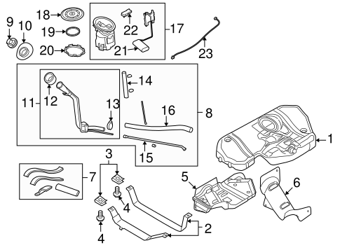 Fuel System Components for 2008 Saturn Astra
