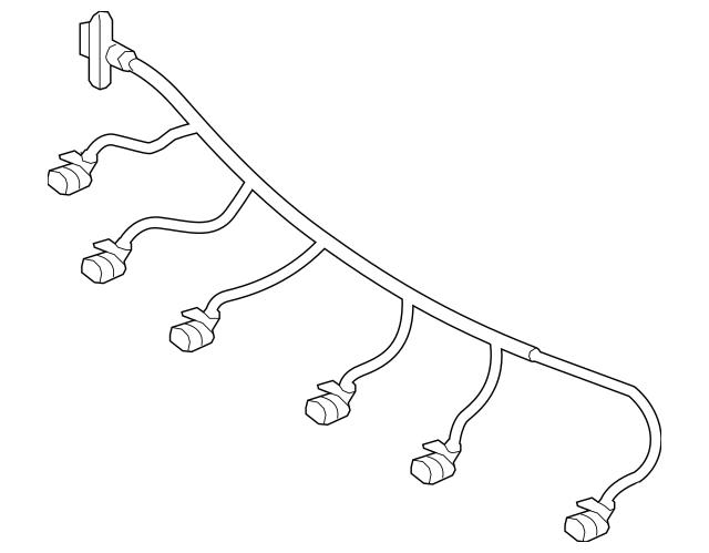 2015-2017 Mercedes-Benz Wire Harness 156-540-19-08