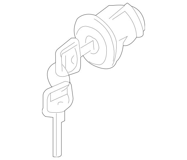 2005-2015 Nissan Xterra Ignition Lock Cylinder D8700-EA010