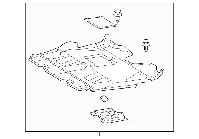 Genuine OEM Lexus Front Shield Part# 51410-30231 Fits 2018