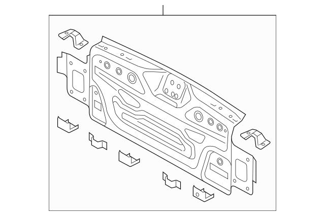 2012-2018 Volkswagen Passat Rear Body Panel 561-813-301