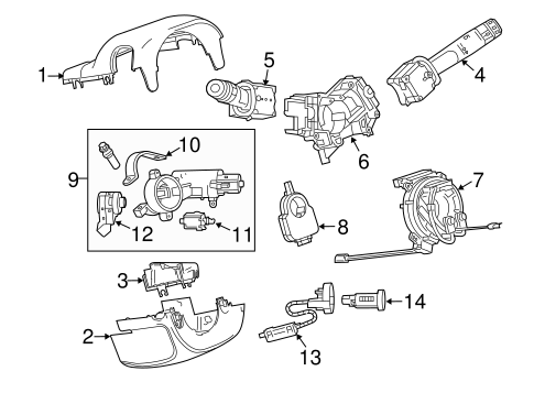OEM 2013 Chevrolet Malibu Ignition Lock Parts