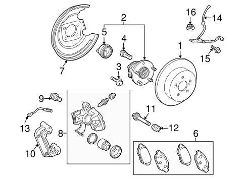 Genuine OEM Brake Components Parts for 2010 Toyota Prius