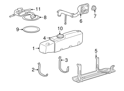 FUEL SYSTEM COMPONENTS for 2002 Ford Ranger