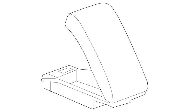 2008-2012 Chevrolet Malibu Console Armrest 15938256