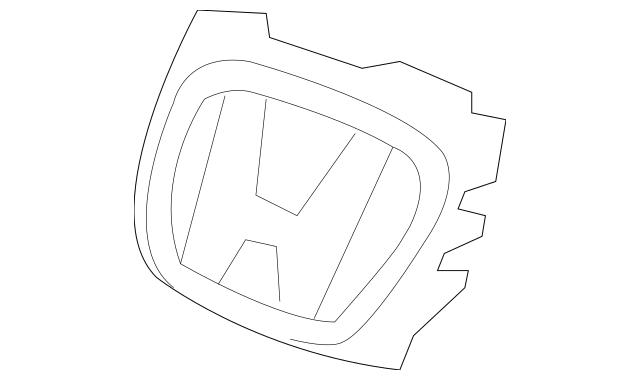 2002-2003 Honda CIVIC HATCHBACK Base, Front H Mark 75711
