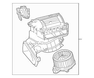 2010-2012 Lexus HS250h Blower Assembly 87130-75030