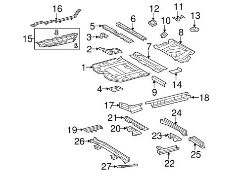 Genuine OEM Floor & Rails Parts for 2009 Toyota Highlander