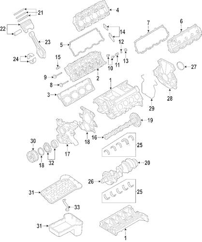5C3Z-6079-G Valve Grind Gasket Kit for 2005 Ford F-250