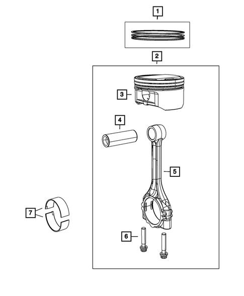 Crankshaft, Piston, Drive Plate, Flywheel, and Damper for