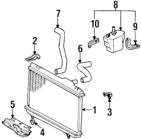 RADIATOR & COMPONENTS for 1992 Toyota Paseo