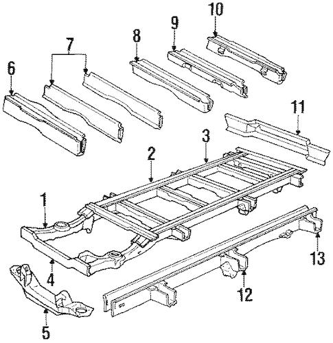 FRAME & COMPONENTS for 1988 Dodge B250