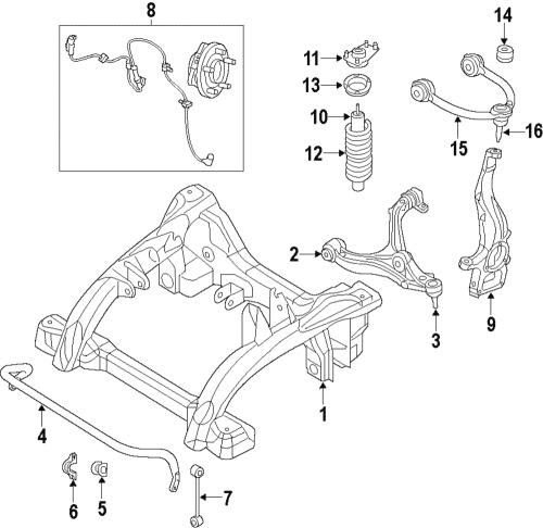 small resolution of genuine mopar oem front suspension jounce bumper 11 18 durango cherokee 68029521ae