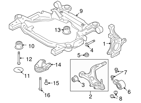 04 Taurus Stabilizer Bar Link Diagram Belt Tensioner