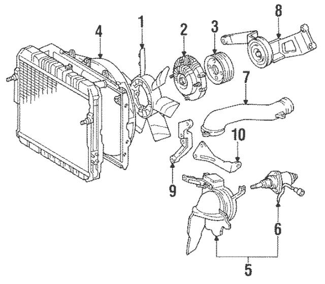 1990-1992 Toyota Land Cruiser Engine Cooling Fan Clutch