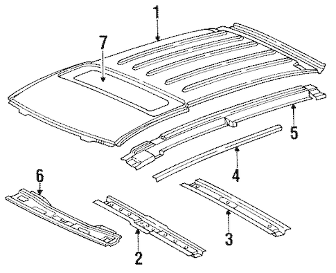 ROOF & COMPONENTS for 1993 Buick Roadmaster