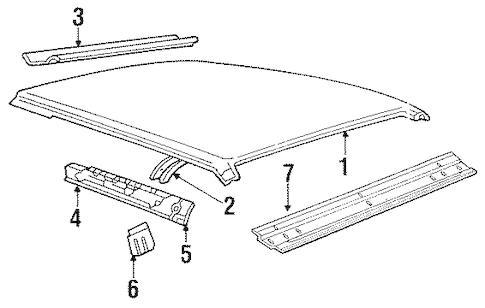 ROOF for 1988 Mercury Grand Marquis