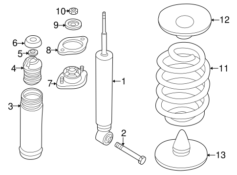 Suspension, Springs & Related Components for 2003 BMW