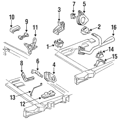 OEM ENGINE & TRANS MOUNTING for 1995 Oldsmobile Cutlass