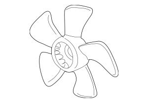 2002-2006 Acura RSX HATCHBACK Fan, Cooling 19020-PND-A01