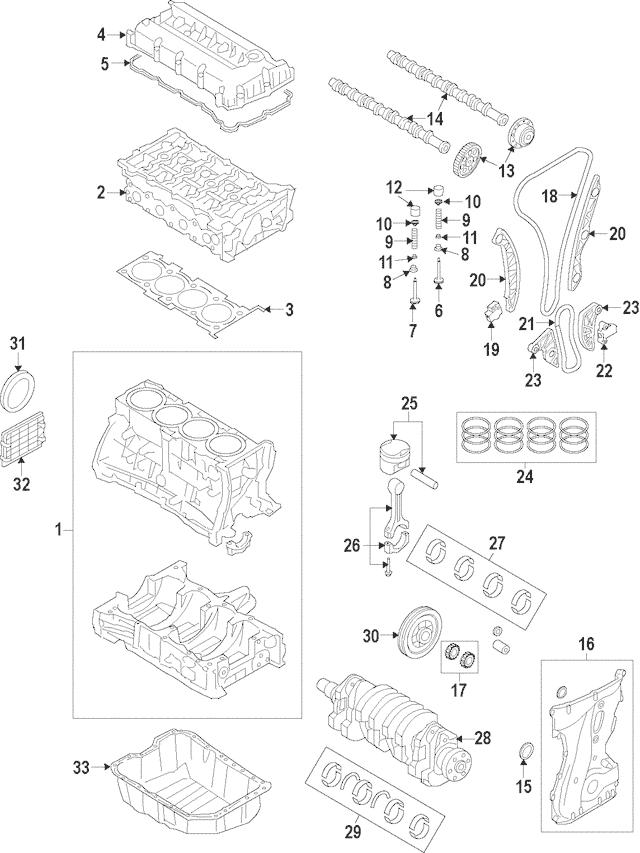 2015-2019 Hyundai Valve Cover Gasket 22441-2GGB0