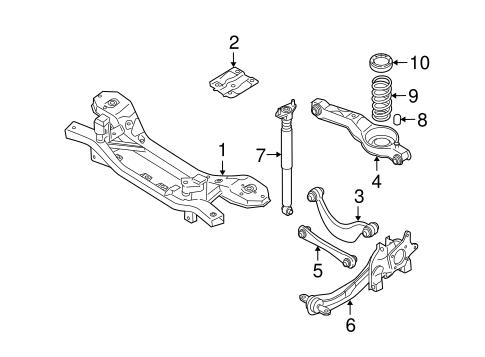 REAR SUSPENSION for 2005 Mazda 3