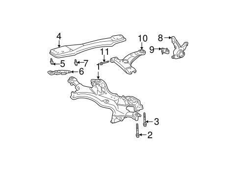 OEM SUSPENSION COMPONENTS for 2004 Pontiac Vibe
