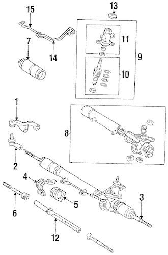 Genuine OEM Steering Gear & Linkage Parts for 1996 Toyota