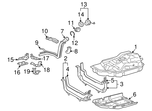 Genuine OEM Fuel System Components Parts for 2011 Toyota