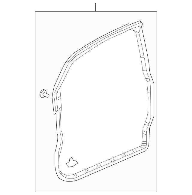 Genuine 2003-2011 Honda ELEMENT 5-DOOR Weatherstrip, R
