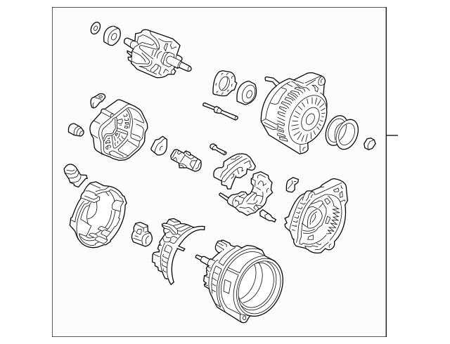 2003-2009 Acura Alternator Assembly (CSD69) (Denso) 31100