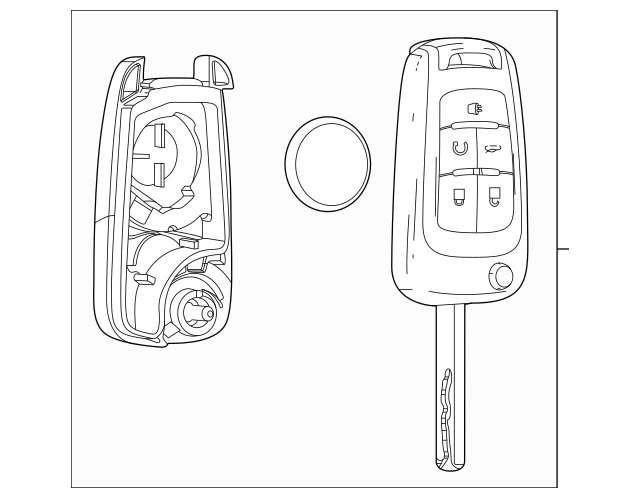 2013-2019 Chevrolet Sonic Keyless Entry Transmitter