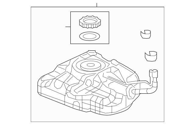 2012 Honda CIVIC HYBRID SEDAN Tank Set, Fuel 17044-TR0-A70