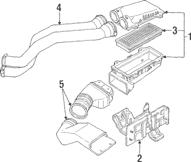1994-1997 Ford Ford F150 F250 F350 Bronco Engine Air