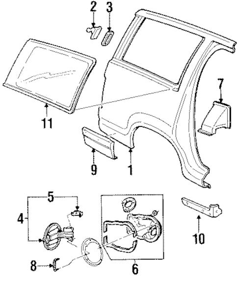 Quarter Panel & Components for 1999 Mercury Mountaineer