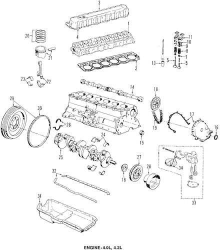 Rear Main Seal for 2000 Jeep Cherokee 5018594AB : Quirk