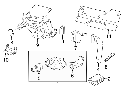 Driver Seat Components for 2014 Nissan Pathfinder