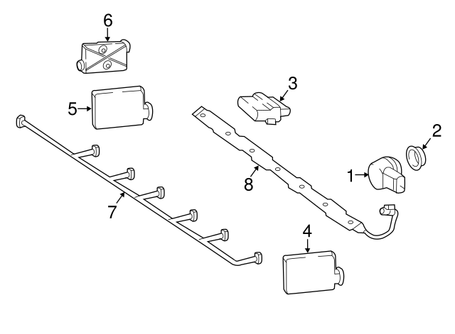 2017-2019 Mercedes-Benz Parking Aid System Wiring Harness