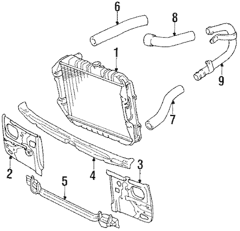 RADIATOR & COMPONENTS for 1992 Toyota Pickup