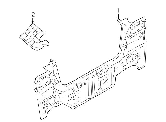 2001-2006 Hyundai Elantra Panel Assembly-back 69100-2D710