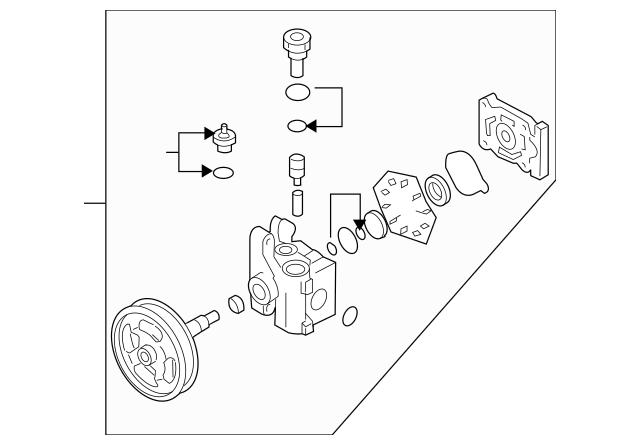 2007-2012 Mazda CX-7 Power Steering Pump EG21-32-600R-0B