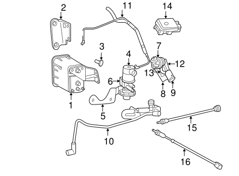 EMISSION COMPONENTS for 1999 Jeep Grand Cherokee