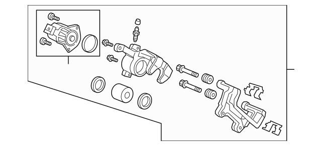Genuine Honda Caliper Sub-Assembly, R Rear 43018-TLA-A01