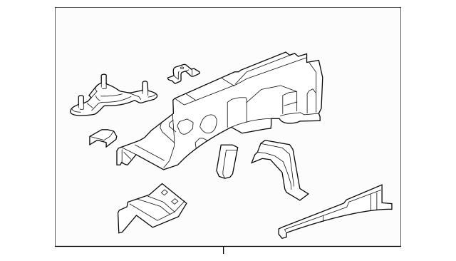 2014-2019 Toyota Tundra Apron Assembly 53702-0C210