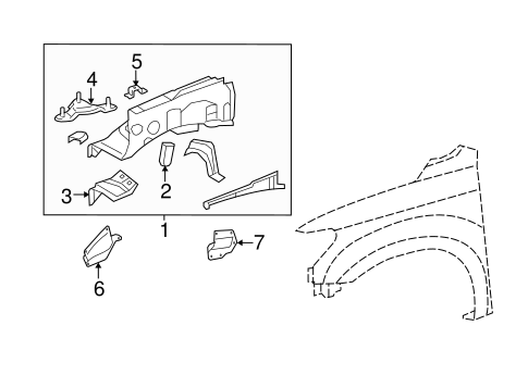 Genuine OEM Inner Components Parts for 2014 Toyota Tundra