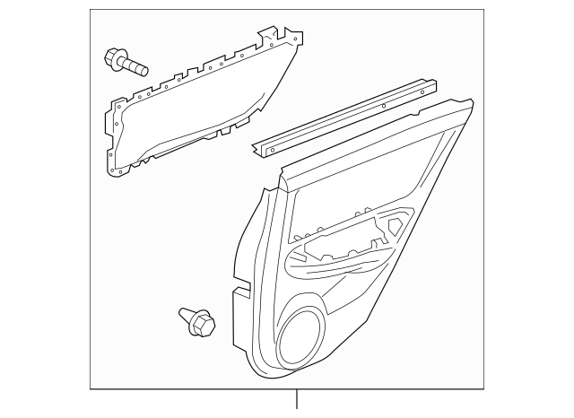 2010-2011 Acura ZDX 5-DOOR Lining, L Rear Door Assembly