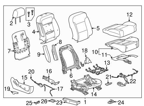 OEM Passenger Seat Components for 2015 Chevrolet Silverado