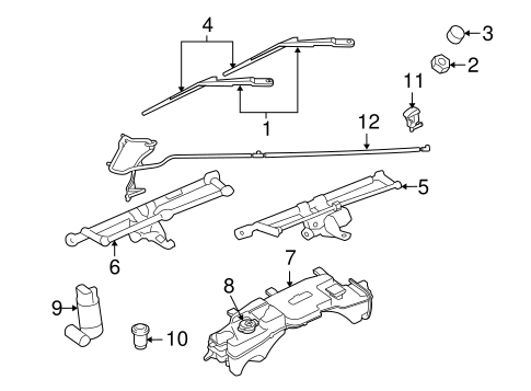 WIPER & WASHER COMPONENTS for 2011 Jeep Liberty