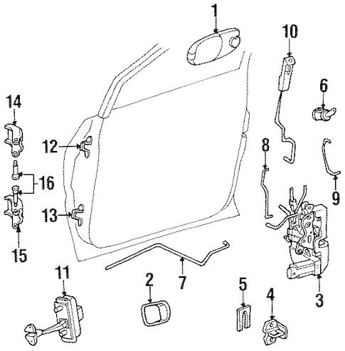 Sliding Door Parts: Chrysler Town And Country Sliding Door