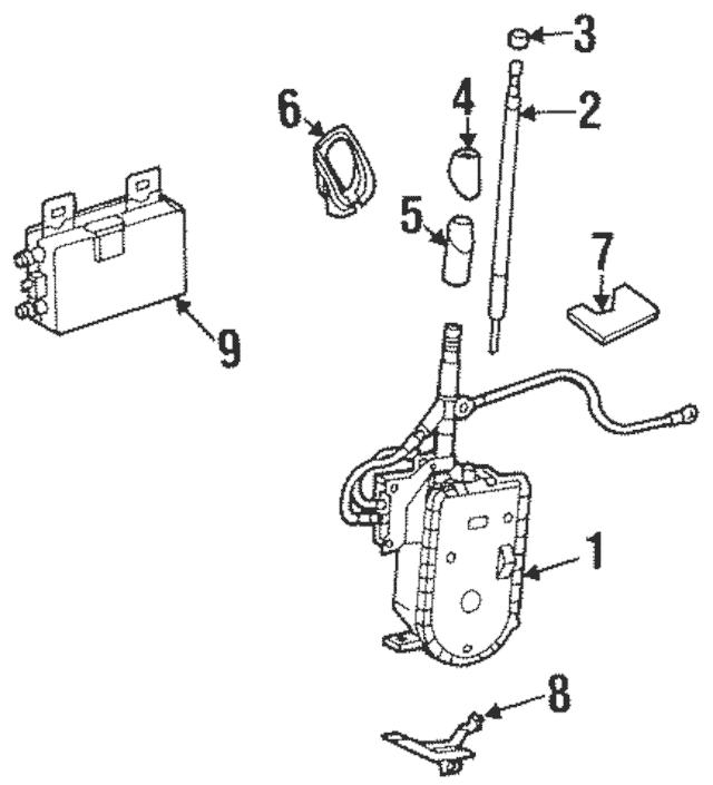 1994-2002 Mercedes-Benz Antenna Assembly 129-820-16-75